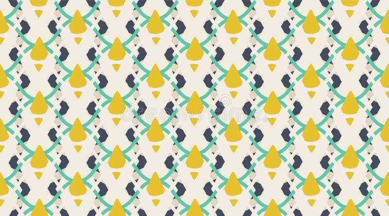 Modello senza cuciture geometrico Bello ornamento delicato Stampa geometrica del tessuto di modo modello nSeamless di vettore immagine stock libera da diritti