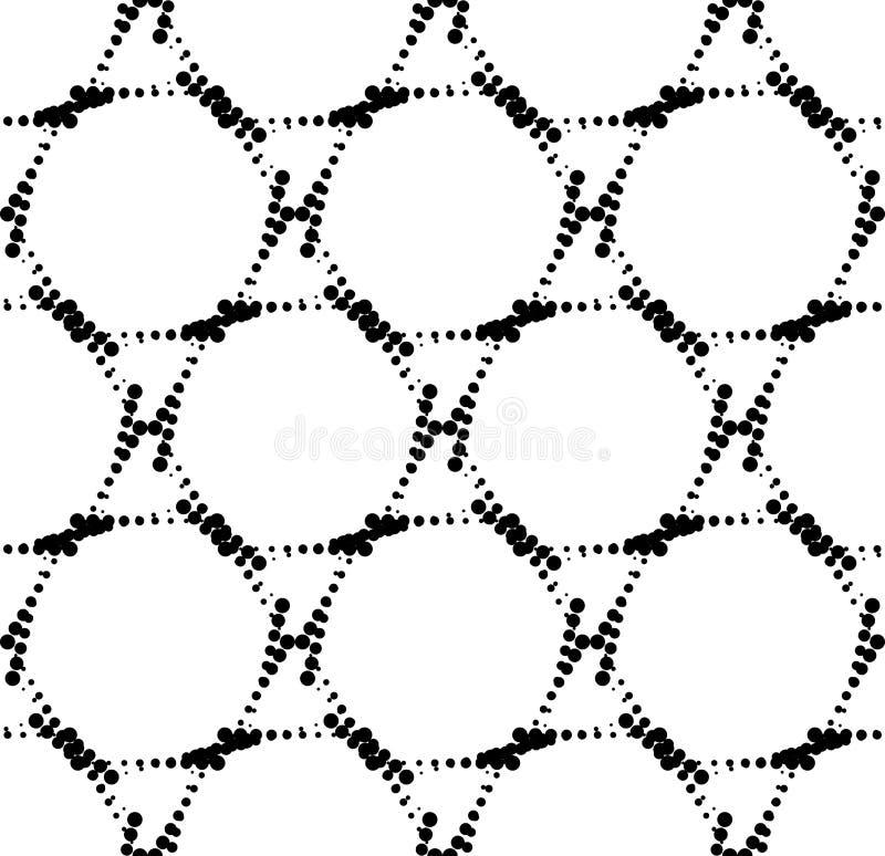 Download Modello Senza Cuciture Geometrico In Bianco E Nero Con Il Cerchio, Astratto Illustrazione Vettoriale - Illustrazione di decorazione, ripetibile: 56881880