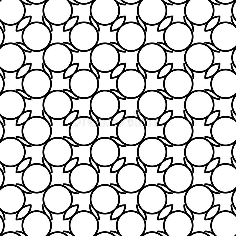 Download Modello Senza Cuciture Geometrico In Bianco E Nero Con La Linea E Ci Ondulati Illustrazione Vettoriale - Illustrazione di contesto, decorazione: 56881543