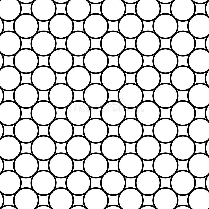 Download Modello Senza Cuciture Geometrico In Bianco E Nero Con La Linea Ed Il Cerchio, Illustrazione Vettoriale - Illustrazione di cerchio, vettore: 56881493