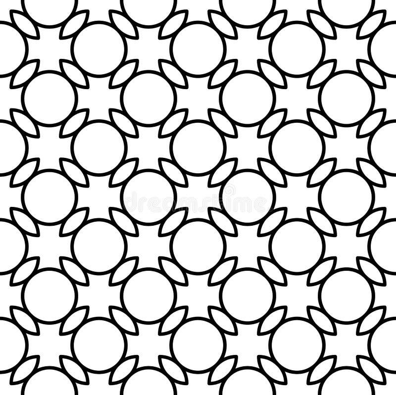 Download Modello Senza Cuciture Geometrico In Bianco E Nero Con La Linea Ed Il Cerchio, Illustrazione Vettoriale - Illustrazione di rotondo, cerchio: 56882853