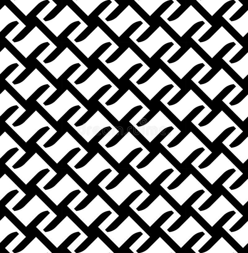 Download Modello Senza Cuciture Geometrico In Bianco E Nero, Fondo Astratto Illustrazione Vettoriale - Illustrazione di stile, rappezzatura: 56881038