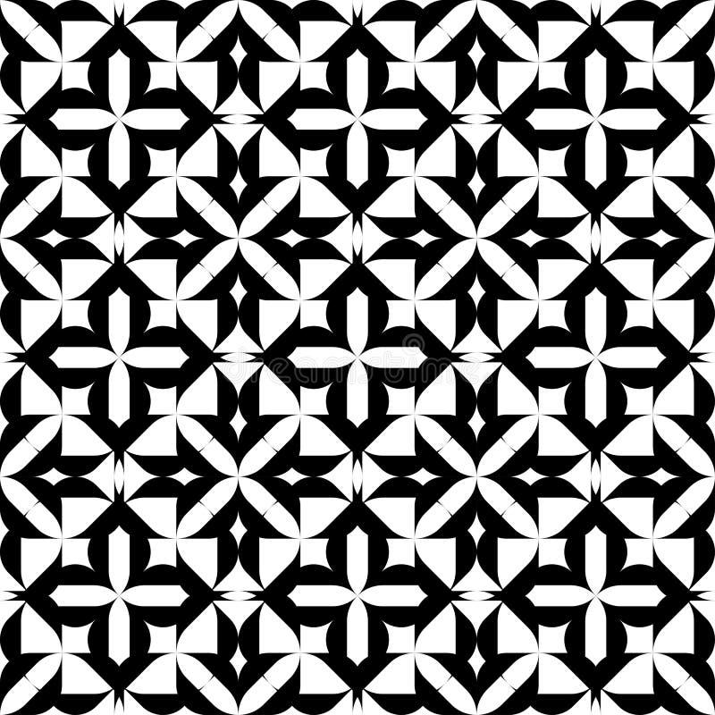 Download Modello Senza Cuciture Geometrico In Bianco E Nero, Fondo Astratto Illustrazione Vettoriale - Illustrazione di monocromatico, ripetibile: 56881789
