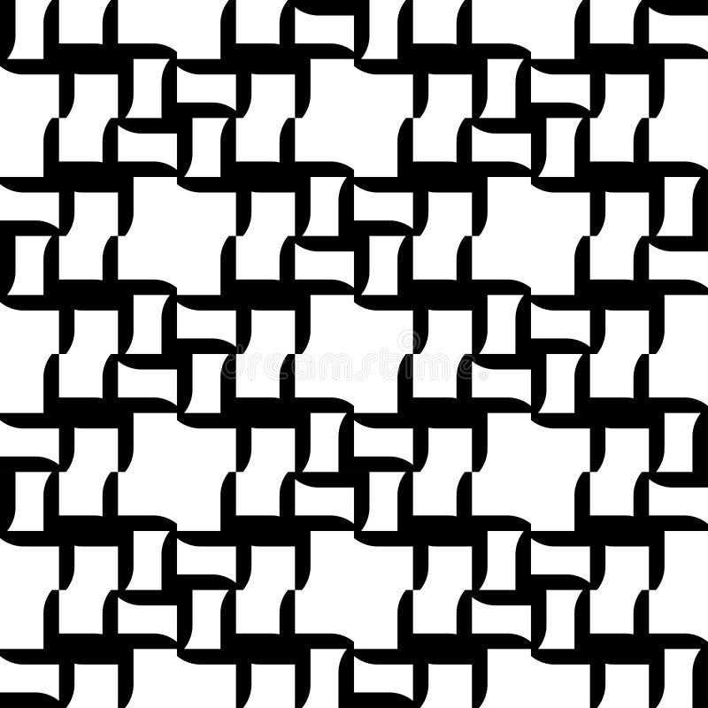 Download Modello Senza Cuciture Geometrico In Bianco E Nero, Fondo Astratto Illustrazione Vettoriale - Illustrazione di ripetizione, rappezzatura: 56881988