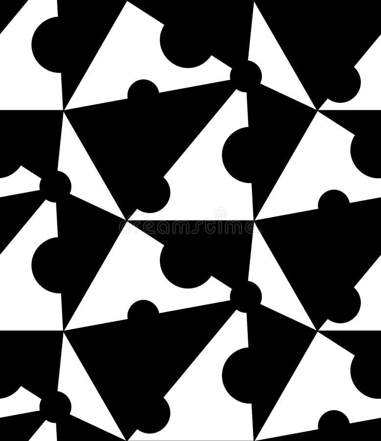 Download Modello Senza Cuciture Geometrico In Bianco E Nero, Fondo Astratto Illustrazione di Stock - Illustrazione di modello, mattonelle: 56881998