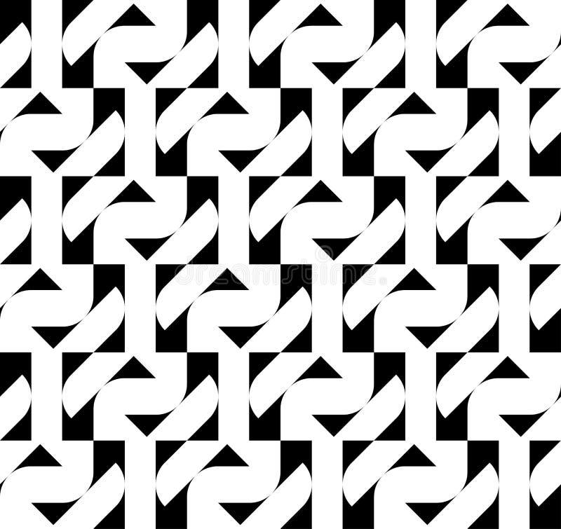 Download Modello Senza Cuciture Geometrico In Bianco E Nero, Fondo Astratto Illustrazione di Stock - Illustrazione di nero, bianco: 56882580