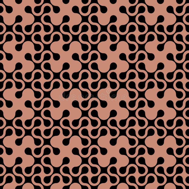 Modello senza cuciture geometrico curvo estratto illustrazione vettoriale