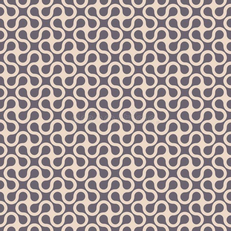 Modello senza cuciture geometrico curvo semplice illustrazione vettoriale