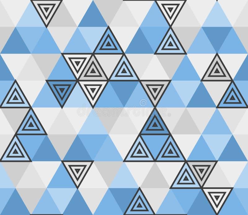 Modello senza cuciture geometrico dal triangolo blu, mosaico royalty illustrazione gratis
