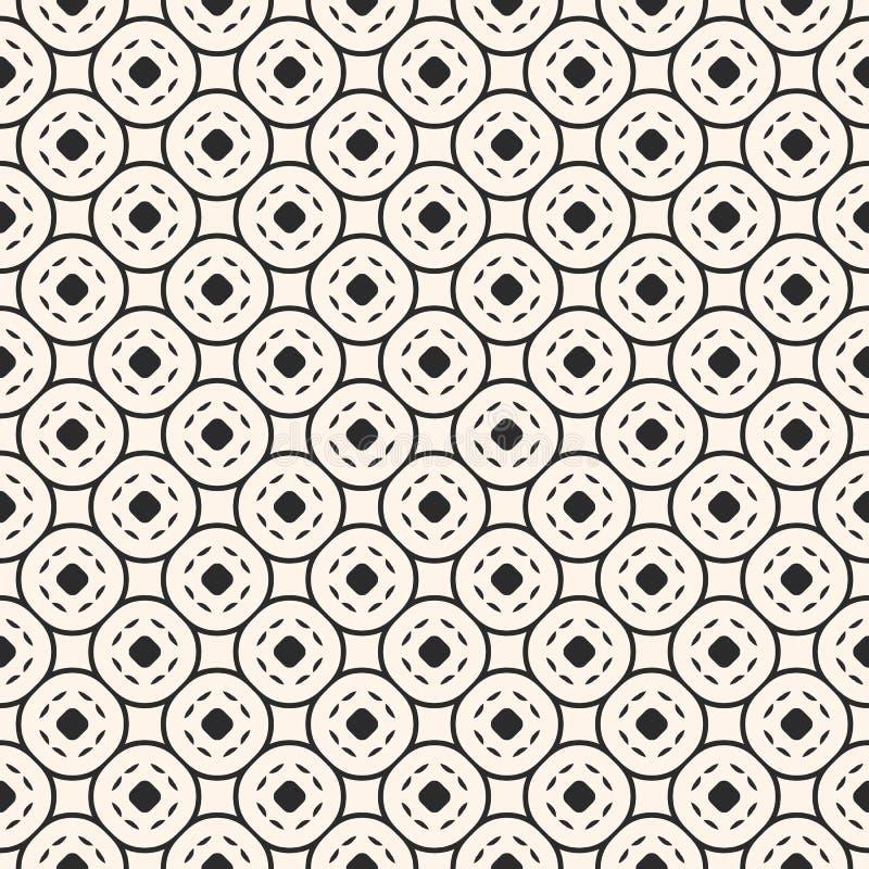Modello senza cuciture geometrico dell'estratto con la maglia circolare, linee curve, cerchi royalty illustrazione gratis