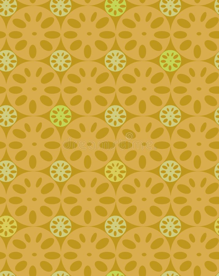 Modello senza cuciture geometrico dell'estratto con le fette della radice del loto royalty illustrazione gratis