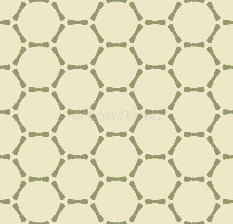 Modello senza cuciture geometrico dell'estratto verde di vettore con la griglia, maglia, rete, cellule illustrazione di stock