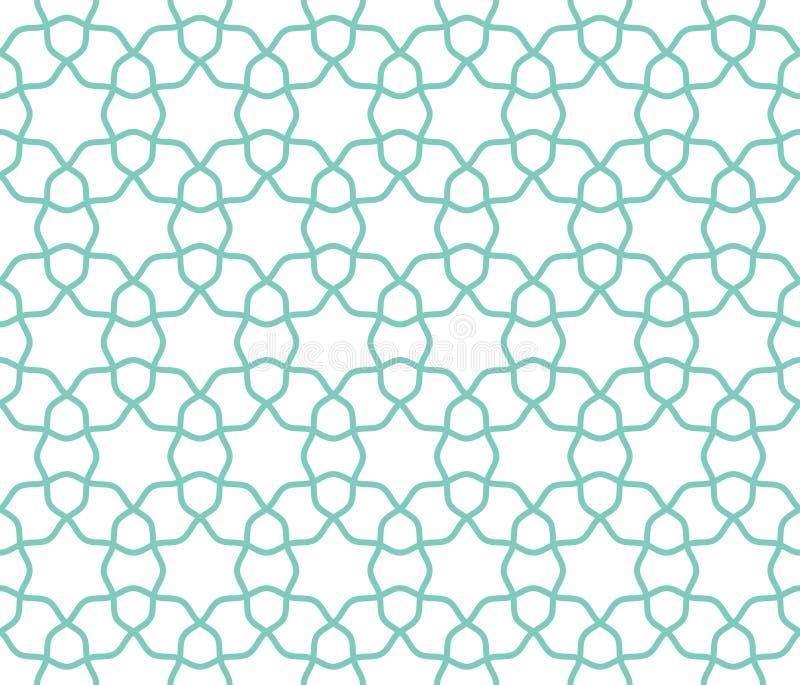 Modello senza cuciture geometrico della grata araba illustrazione di stock