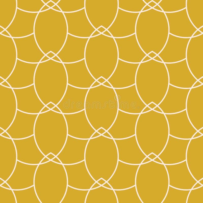 Modello senza cuciture geometrico delle catene dell'oro di vettore royalty illustrazione gratis