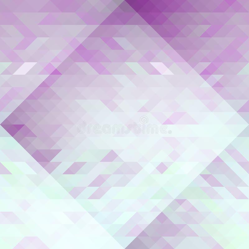 Modello senza cuciture geometrico di astrazione viola e blu-chiaro dei triangoli illustrazione di stock