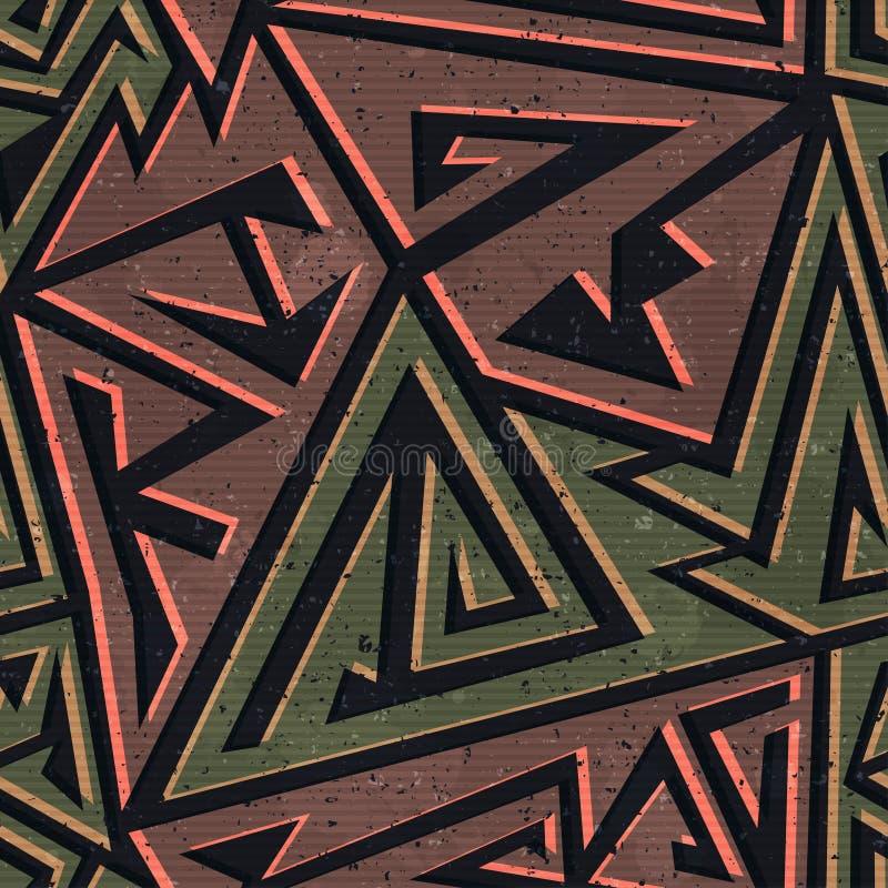 Modello senza cuciture geometrico di colore urbano royalty illustrazione gratis