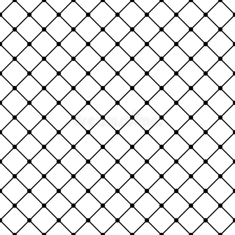 Modello senza cuciture geometrico di griglia quadrata di vettore Progettazione moderna scura per la decorazione, stampe, web illustrazione di stock