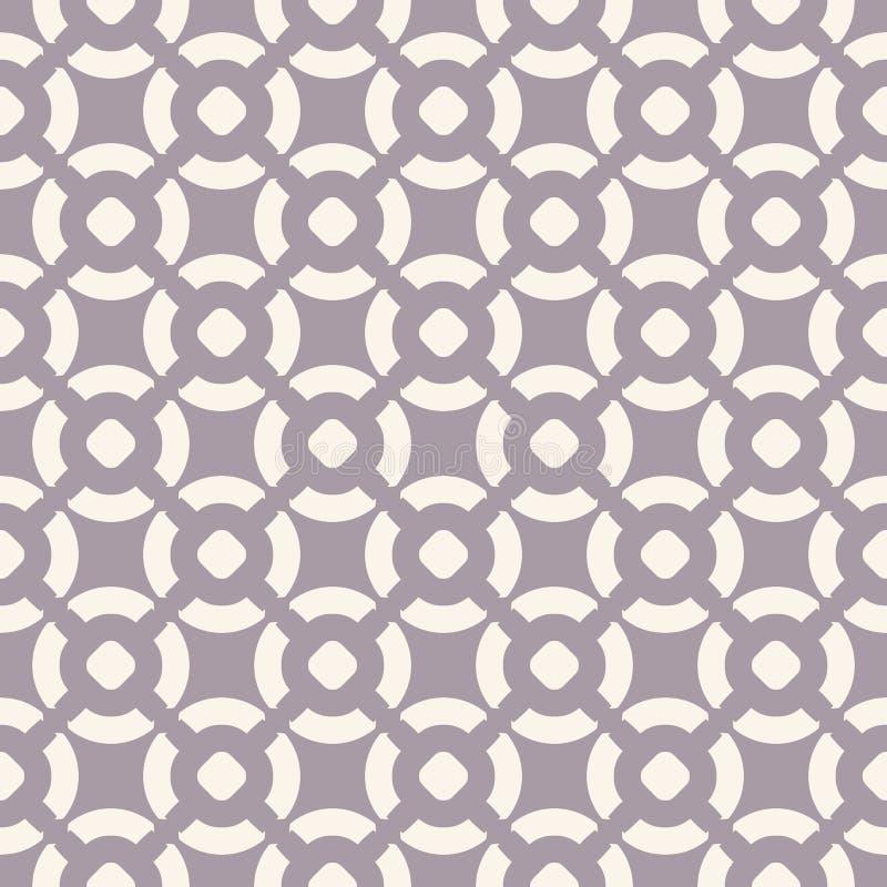 Modello senza cuciture geometrico di vettore nei colori pastelli morbidi, lilla e beige illustrazione di stock