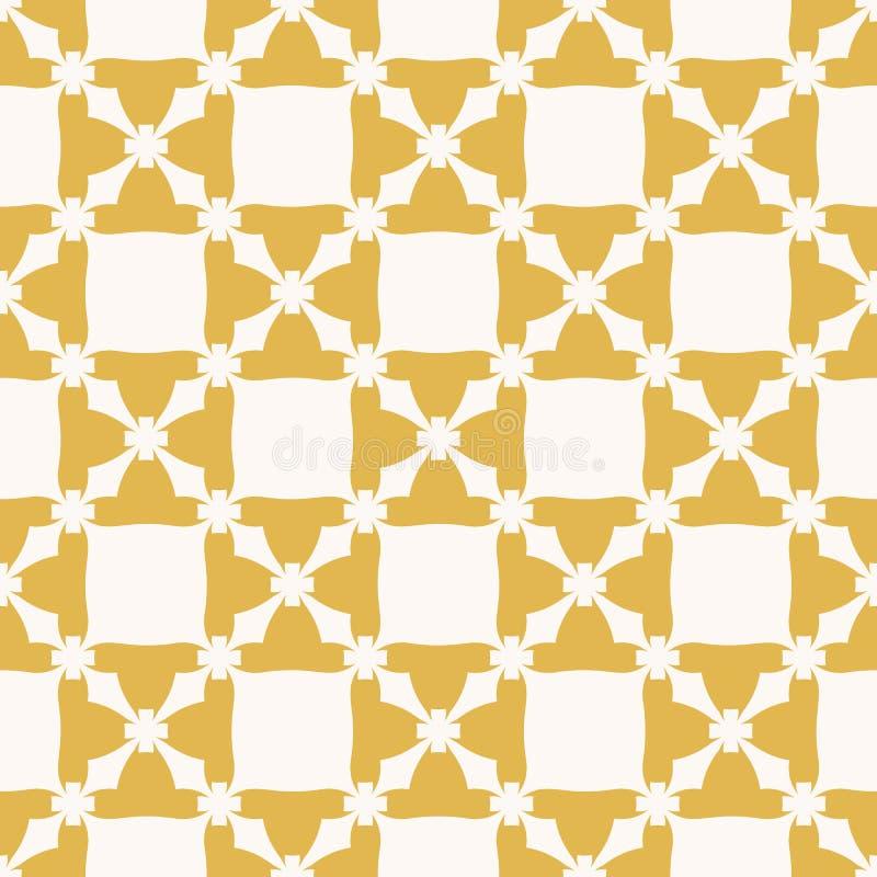 Modello senza cuciture geometrico floreale dell'estratto di vettore Colore giallo e beige illustrazione di stock