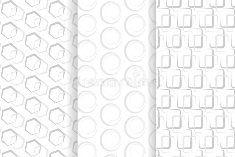 Modello senza cuciture geometrico grigio illustrazione di stock