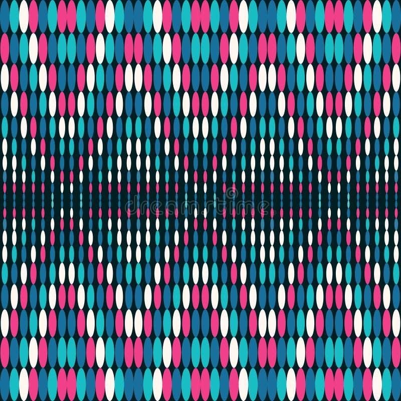 Modello senza cuciture geometrico luminoso dei cerchi colorati illustrazione vettoriale