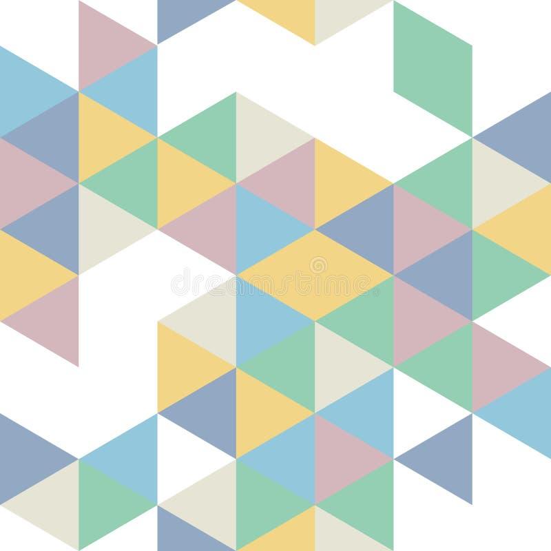 Modello senza cuciture geometrico nei retro colori illustrazione vettoriale