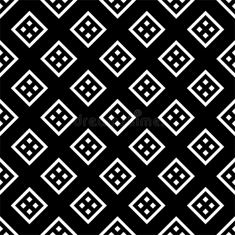 Modello senza cuciture GEOMETRICO nero nel fondo bianco illustrazione di stock
