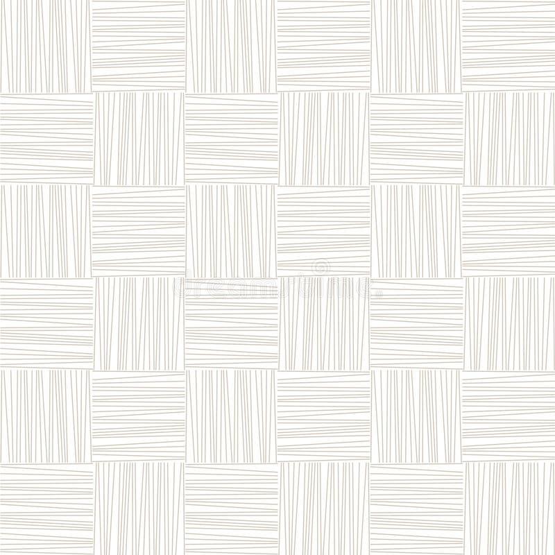 Modello senza cuciture geometrico tessuto sottile bianco e grigio, vettore illustrazione di stock