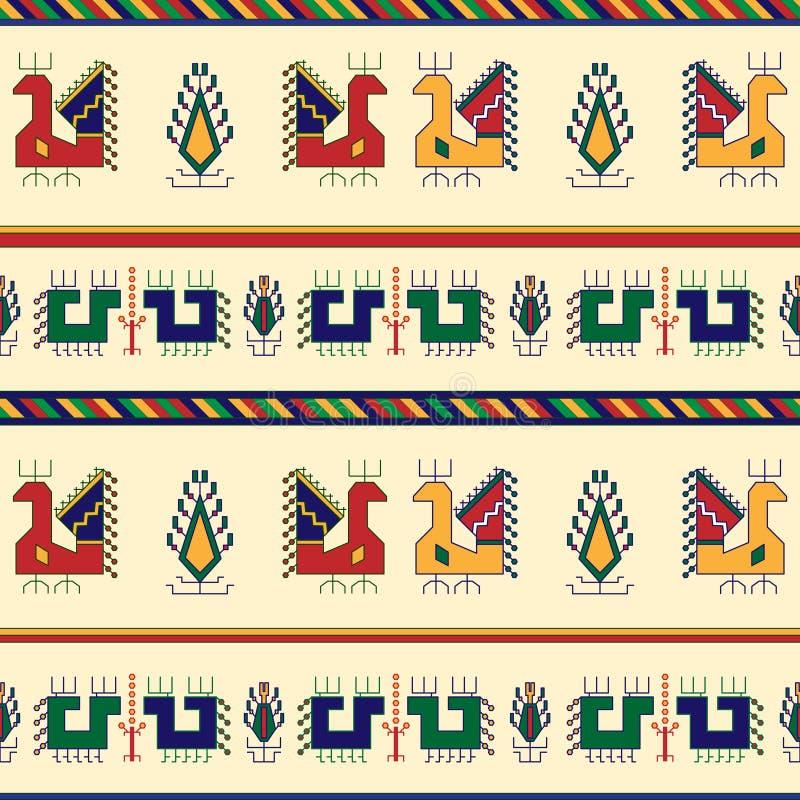 Modello senza cuciture geometrico tradizionale nello stile bulgaro royalty illustrazione gratis