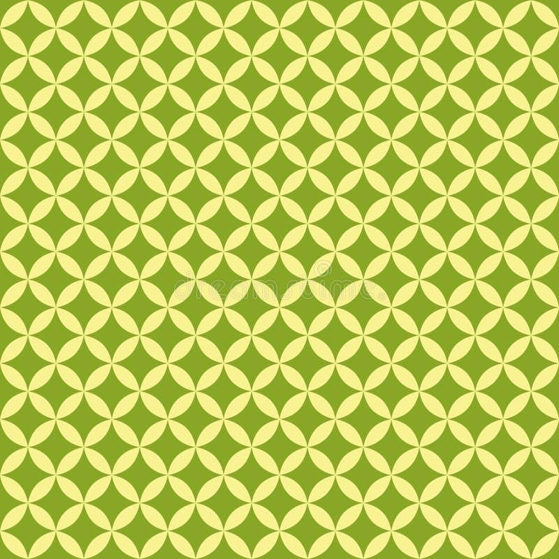 Modello senza cuciture geometrico verde astratto per lo spargimento Vettore illustrazione di stock