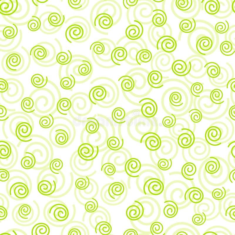 Modello senza cuciture geometrico verde riccio di scarabocchio dell'estratto immagine stock