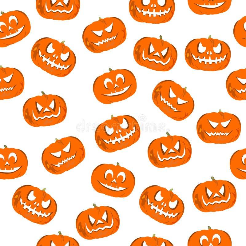 Modello senza cuciture Jack-o'-lantern per Halloween royalty illustrazione gratis