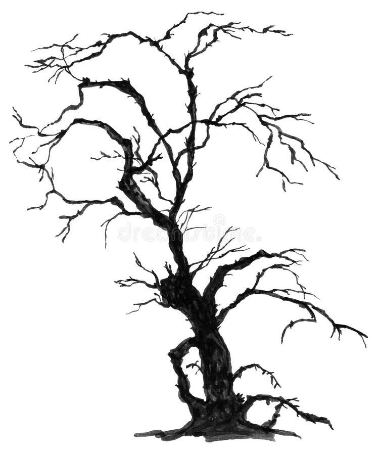 Modello senza cuciture luminoso disegnato a mano di Halloween royalty illustrazione gratis