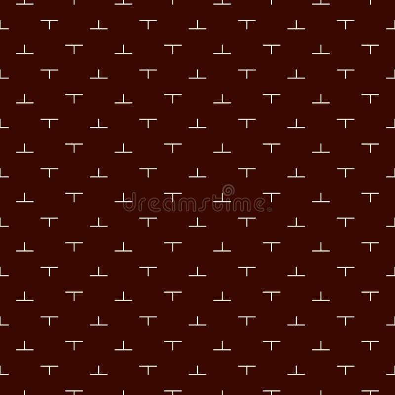 Modello senza cuciture minimalista con l'ornamento geometrico semplice Fondo ripetuto dell'estratto del mosaico di puzzle Stile m royalty illustrazione gratis
