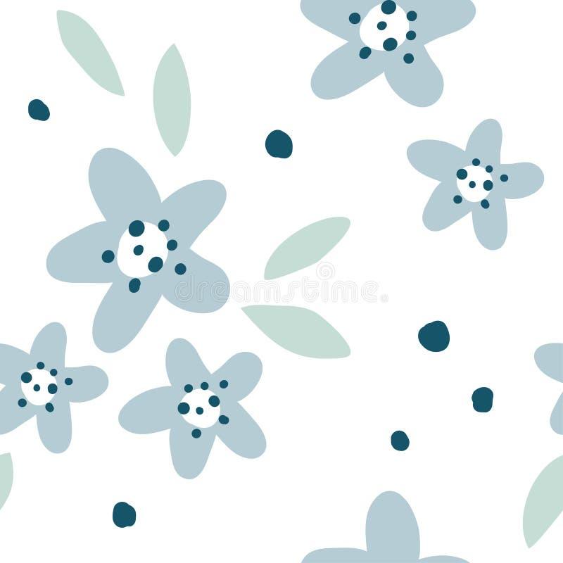 Modello senza cuciture minimalistic semplice del fiore royalty illustrazione gratis