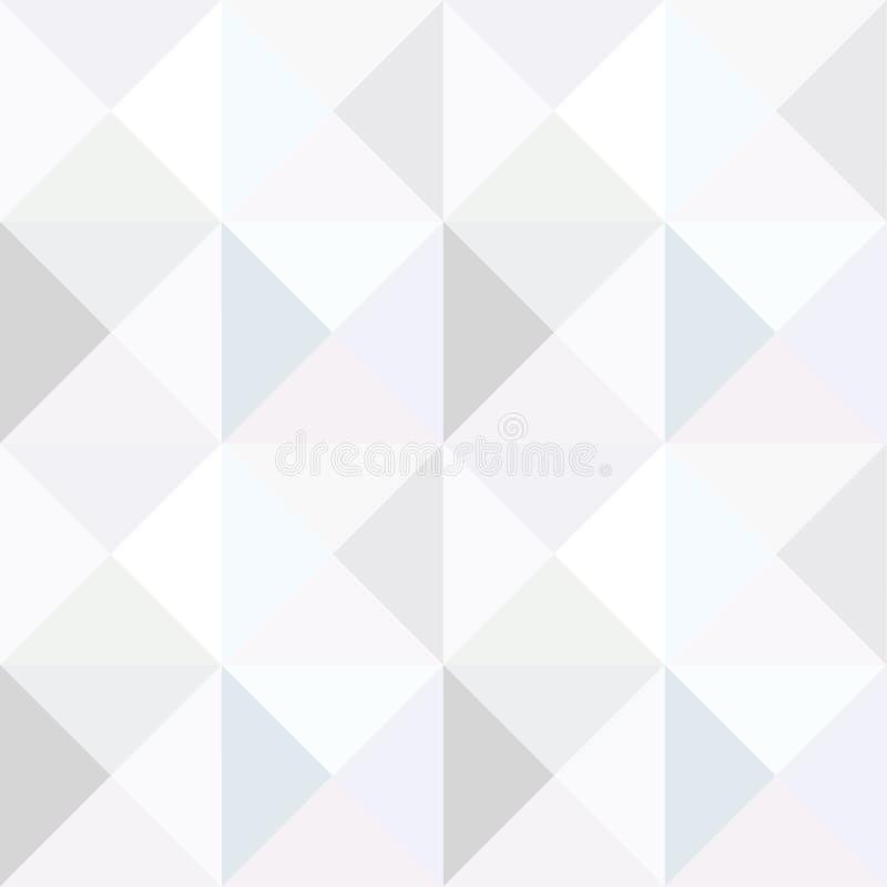 Modello senza cuciture monocromatico del triangolo illustrazione di stock