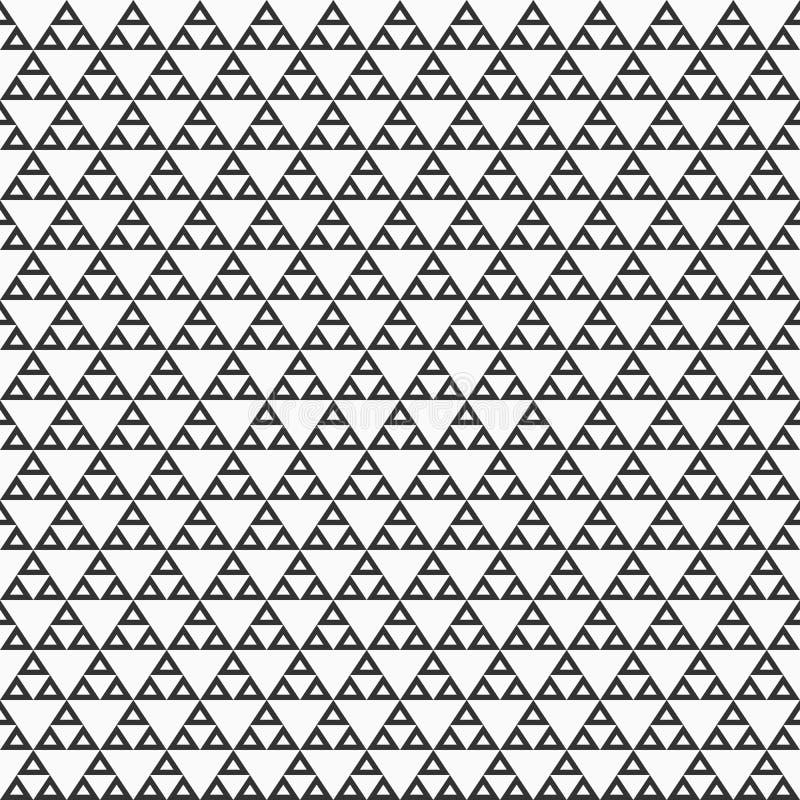 Modello senza cuciture monocromatico geometrico astratto con i triangoli royalty illustrazione gratis