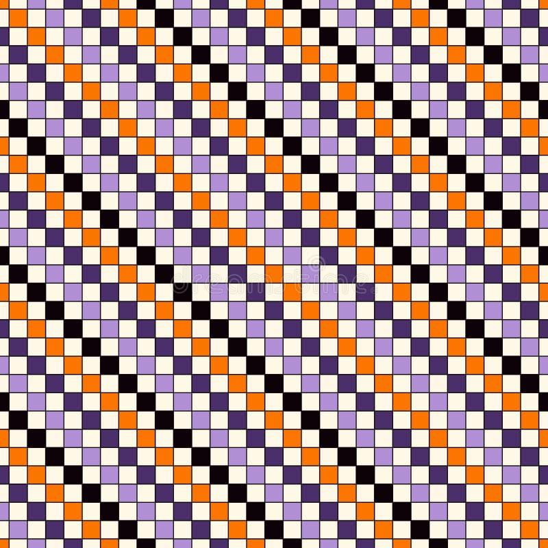 Modello senza cuciture nei colori tradizionali di Halloween La diagonale luminosa ripetuta estratto allinea il fondo illustrazione di stock