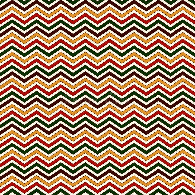 Modello senza cuciture nei colori tradizionali di Natale La diagonale luminosa di colori di Chevron allinea il fondo astratto illustrazione vettoriale