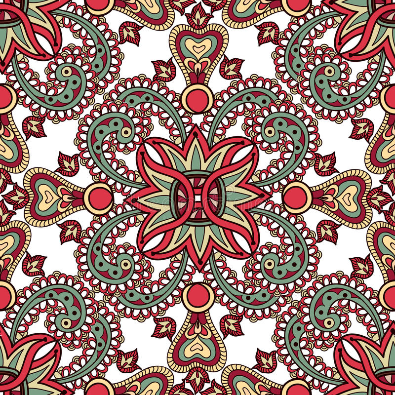 Modello senza cuciture orientale floreale Priorità bassa del fiore Reticolo 08 illustrazione di stock