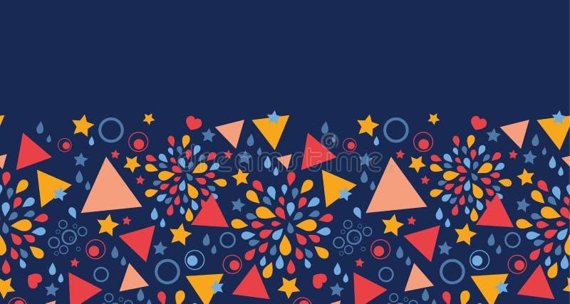 Download Modello Senza Cuciture Orizzontale Di Celebrazione Astratta Illustrazione Vettoriale - Illustrazione di decorativo, celebrazione: 30827314