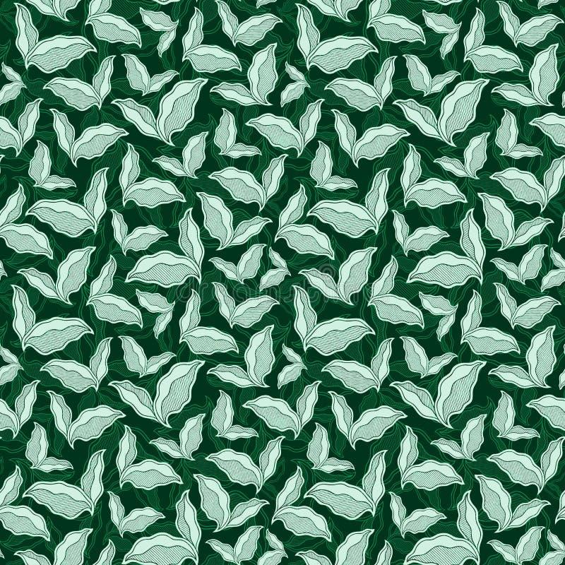 Modello senza cuciture ornamentale d'annata decorativo illustrazione di stock
