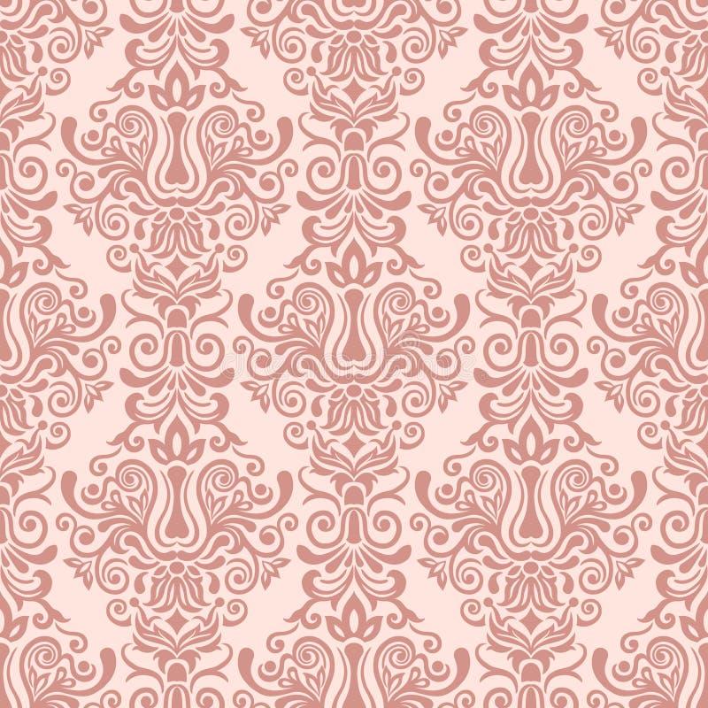 Modello senza cuciture ornamentale del damasco d'annata illustrazione vettoriale