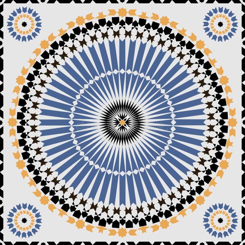 Modello senza cuciture ornamentale del Marocco illustrazione di stock