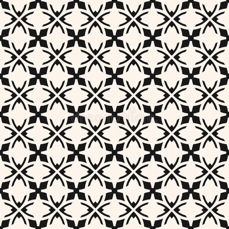 Modello senza cuciture ornamentale dell'estratto in bianco e nero di vettore nello stile gotico illustrazione vettoriale