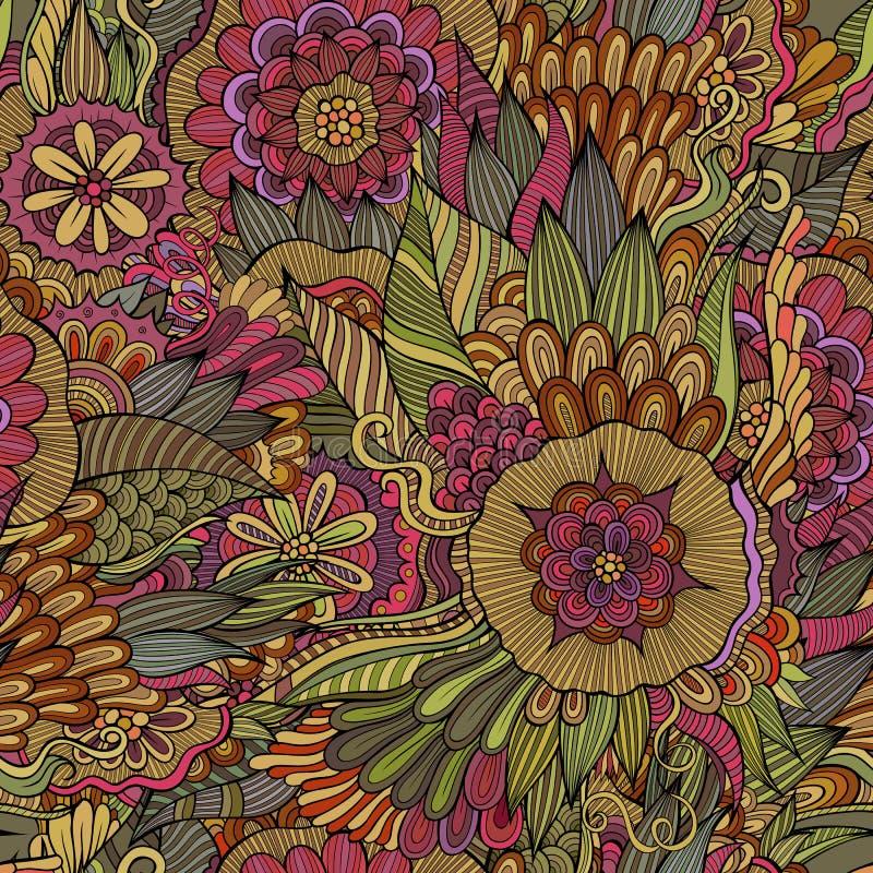 modello senza cuciture ornamentale floreale illustrazione vettoriale