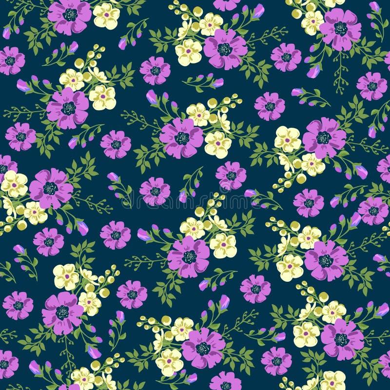 Modello senza cuciture in piccolo fiore Stampa romantica del fiore illustrazione di stock