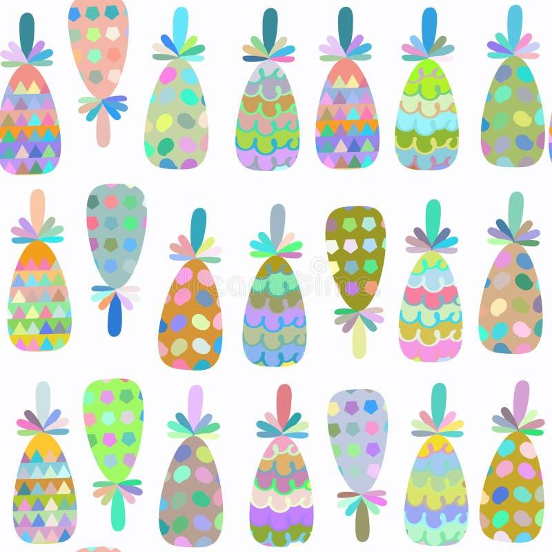 Modello senza cuciture pineappless di fantasia della natura È situato in interruttore royalty illustrazione gratis