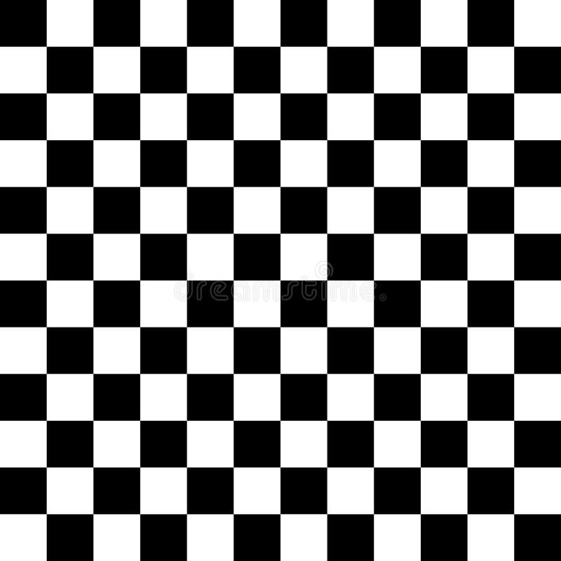 Modello senza cuciture a quadretti in bianco e nero Fondo senza fine Corsa della struttura della bandiera illustrazione vettoriale