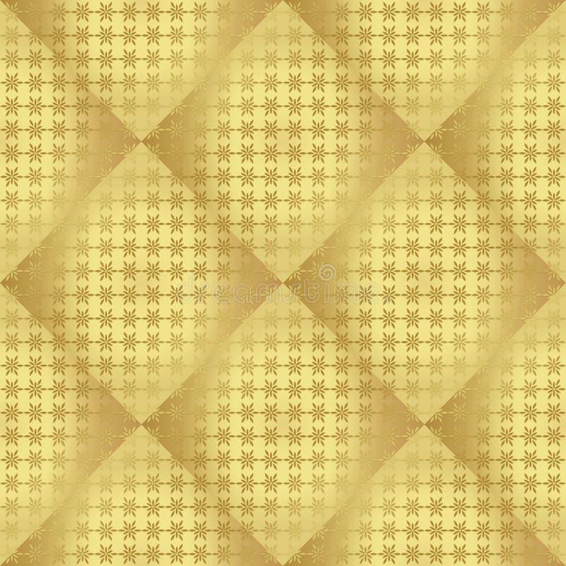 Modello senza cuciture regolare metallico dell'oro immagine stock